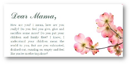 A Letter from us at Nurturing Mamas!