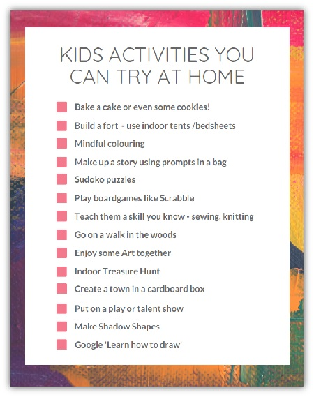 Kids Activities you can try at home!